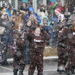 """A large crowd gathers on Union Street to celebrate """"Christmas on the Canal"""" in Spencerport."""