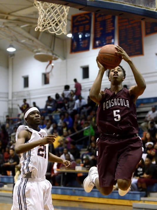 Pensacola High School vs Escambia High School boys basketball