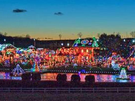 It takes more than a million lights to illuminate Koziar's