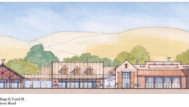 Artist's rendering of proposed Corral de Tierra Shopping Village on Highway 68.