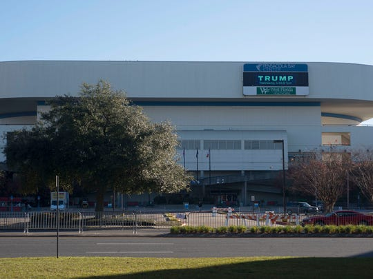 All eyes will be focused on the Pensacola Bay Center today as the area prepares for the Trump presidential campaign visit tonight.