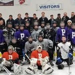 Plymouth hockey players, dads bond during 48-hour road trip