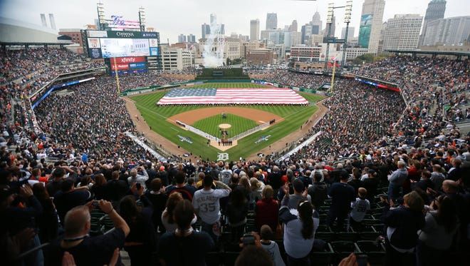 There will be 31 promotional giveaways at Comerica Park in 2015, along with 16 postgame fireworks shows.