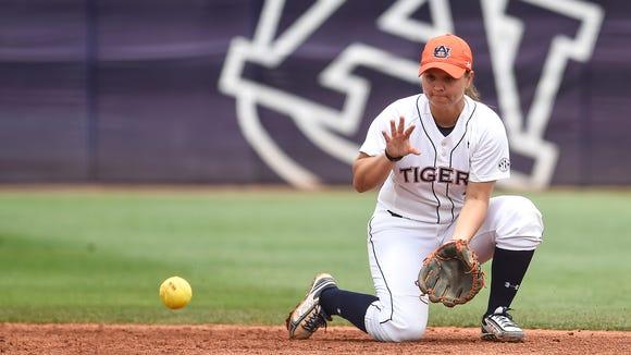 Emily Carosone and Auburn hope to advance to the NCAA Super Regional.