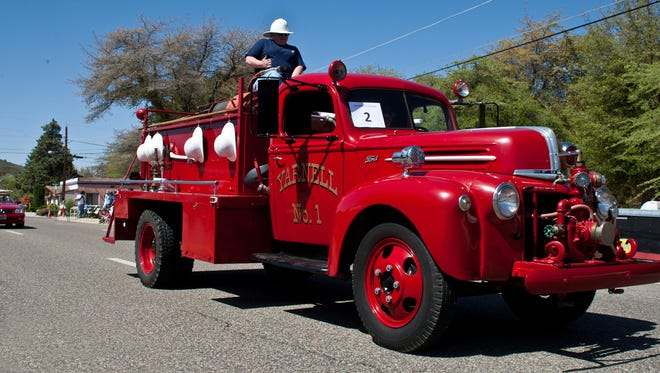 Yarnell fire truck during the parade at the annual Yarnell Daze event.