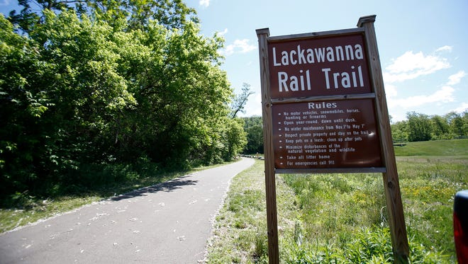 The Lackawanna Trail runs along the old railroad bed in Chemung County, and even crosses a trestle on the outskirts of Elmira. The stretch of trail east of Elmira to Lowman will be paved in the fall.