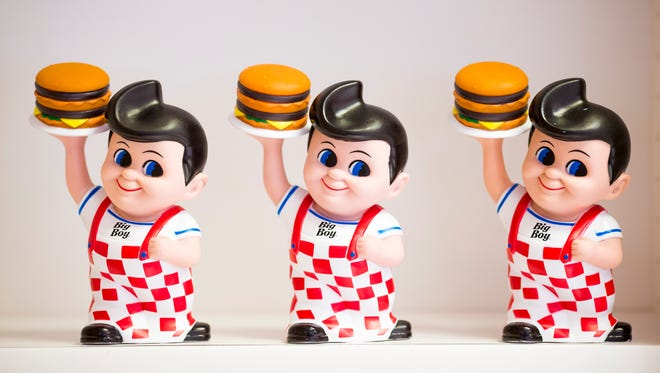 Frisch's Big Boy banks are on sale at the Covington location on Fifth Street.