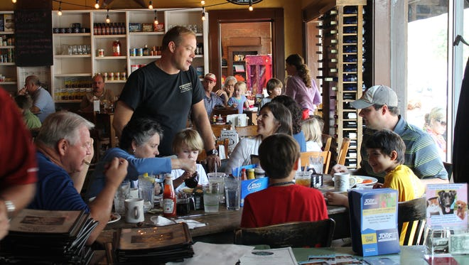 Puckett's is always filled with families and groups of friends of all ages, enjoying Southern favorites.