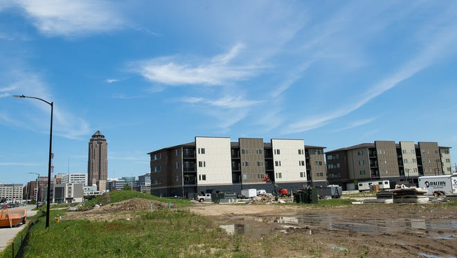 Cityville on 9th, a new apartment complex south of downtown, features studio to two bedroom units ranging from $895-$1975 on Thursday, July 14, 2016 in Des Moines.