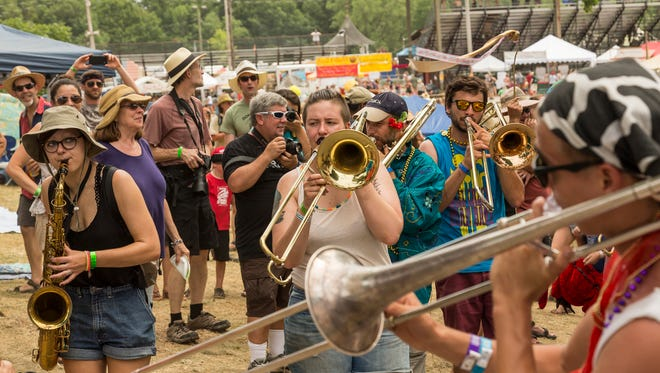 The final day of the 26th annual Finger Lakes GrassRoots Festival of Music and Dance was held July 24, 2016, at the Trumansburg Fairgrounds.