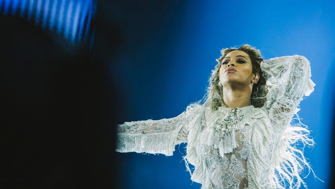 Beyonce performs during the Formation World Tour at Telia Parken on Sunday, July 24, 2016 in Copenhagen, Denmark.