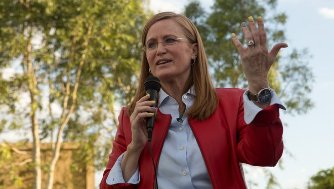 Christine Jones, a former executive with GoDaddy, is running in the 5th District race to replace retiring U.S. Rep. Matt Salmon, R-Ariz.