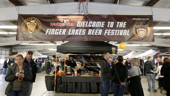 Nearly 4,000 people filed into the garage at Watkins Glen International Saturday for the Finger Lakes Beer Festival last year.