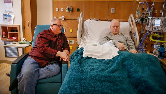High School student Gradyn Rogers found out he had cancer around the time an EF-3 tornado destroyed the Kokomo home he shared with his father and brother. Gradyn and father Randy talk about the experience and where Gradyn is in his recovery at Riley Children's Hospital on Wednesday, Nov. 10, 2016.