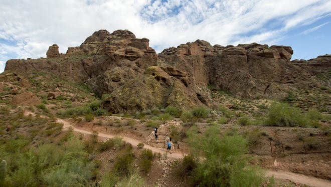A hiker died on Echo Canyon Trail on Camelback Mountain in Phoenix on Feb. 1, 2018.