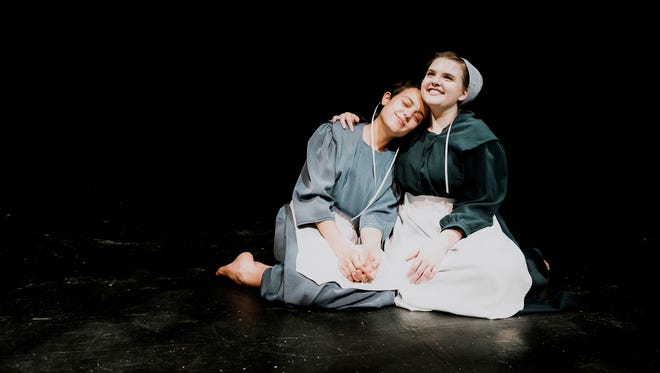 """The Amish Project"" featuring Allie Huff, left, and Astrid Rotenberry."