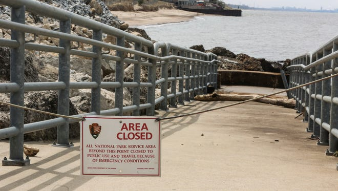 The National Park Service closed beaches around a chemical spill on Lake Michigan on April 13, 2017.