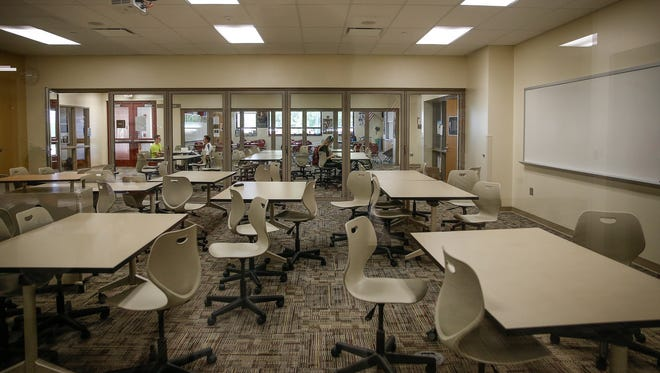 Fishers High School students can step outside of the classroom, sometimes referred to as 'fishbowls,' to get work done.