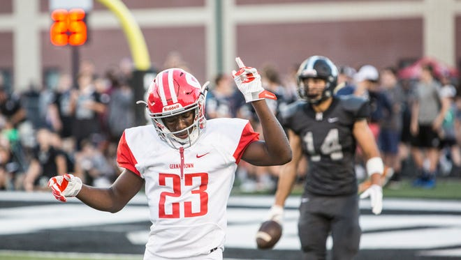 Germantown's Jaylin Williams, who is solidly committed to Indiana, is one of several local high school football prospects who will sign on Wednesday.