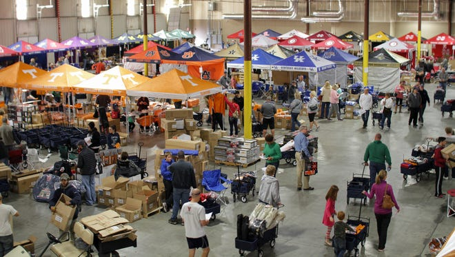 The Logo Warehouse Sale, with half off tents, chairs and other tailgating and spirit items, is this weekend.