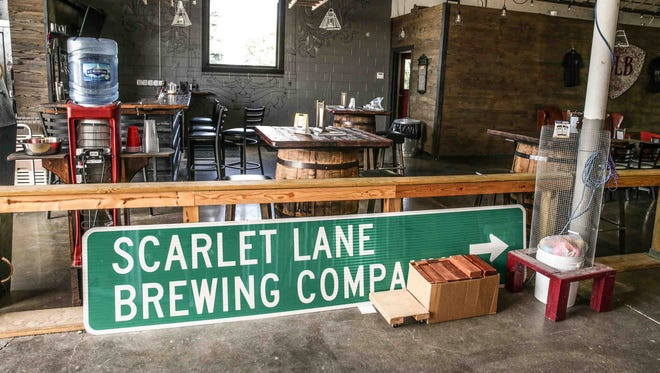 Scarlet Lane Brewing Co. tasting room in McCordsville on Wednesday, July 19, 2017. Originally the brewery didn't have a tasting room but added it at the request of customers.