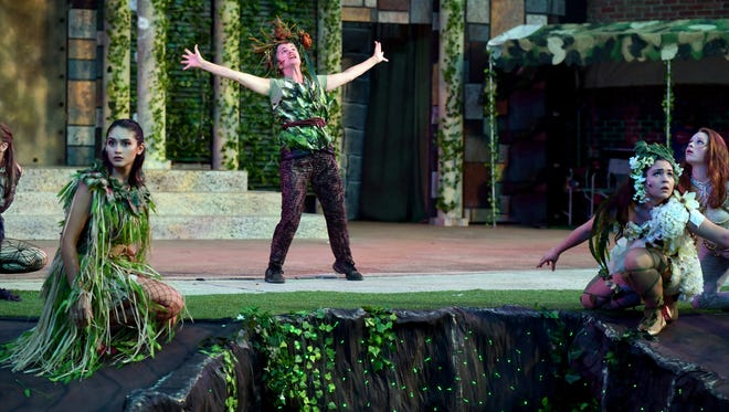 """Shakespeare in Academy Park presents """"A Midsummer Night's Dream"""" Sept. 13-16, 2018. Admission is free, but $10 donations are suggested."""