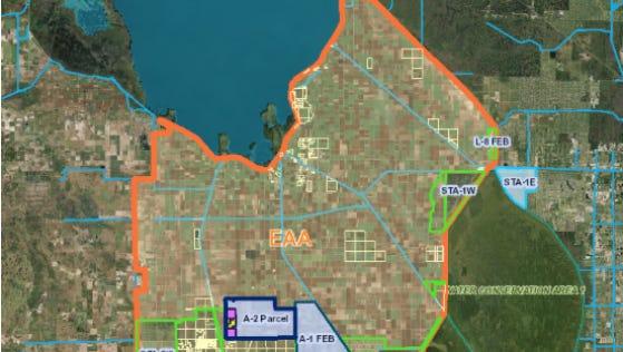Screenshot of SFWMD's Lake Okeechobee reservoir project tracker