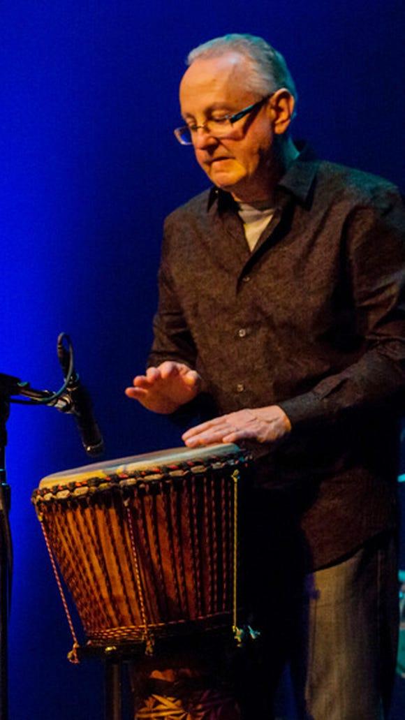 """""""Bongo"""" Bill Lanphier on percussion."""