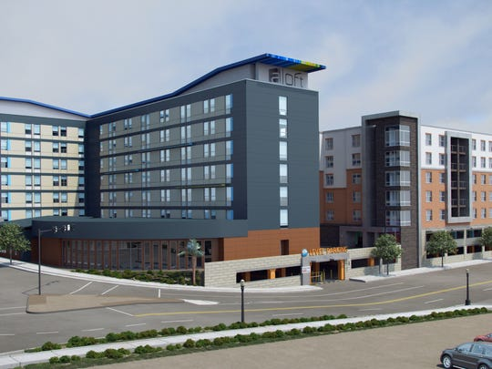 A view of the hotel planned for the $70 million development.