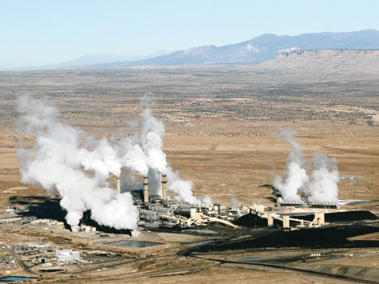 The San Juan Generating Station is seen on Nov. 6, 2013. The coal-fired power plant serves more than 2 million people.