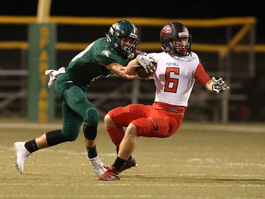 Greg Barnette/Record SearchlightFoothill tops Red Bluff 55-29.