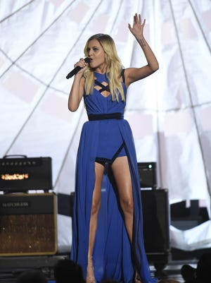 Kelsea Ballerini performs during the 51st Academy of County Music Awards at the MGM Grand Garden Arena on Sunday.