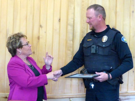 Ruidoso Police Officer Daniel Hildman brings pride to the department, Village Manager Debi Lee said.