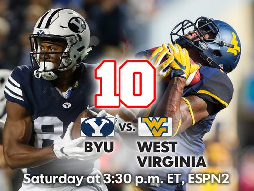 10. BYU vs. West Virginia (Saturday at 3:30 p.m., ESPN2)