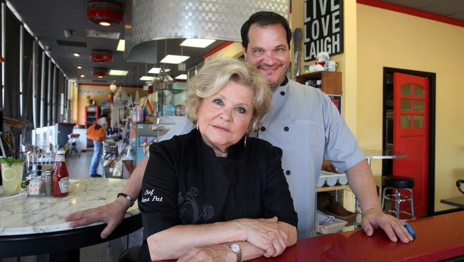 Owner and Chef Dino La Sasso (right) and his mother and chef Pat Bender at Dino's on Main in Asbury Park.