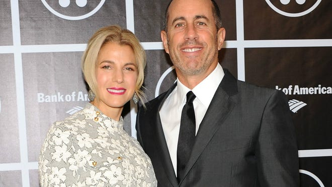 Jessica Seinfeld and husband Jerry Seinfeld attend Baby Buggy's 15 Year Celebration at The Beacon Hotel in New York City