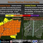 April 27, 2016 weather graphic