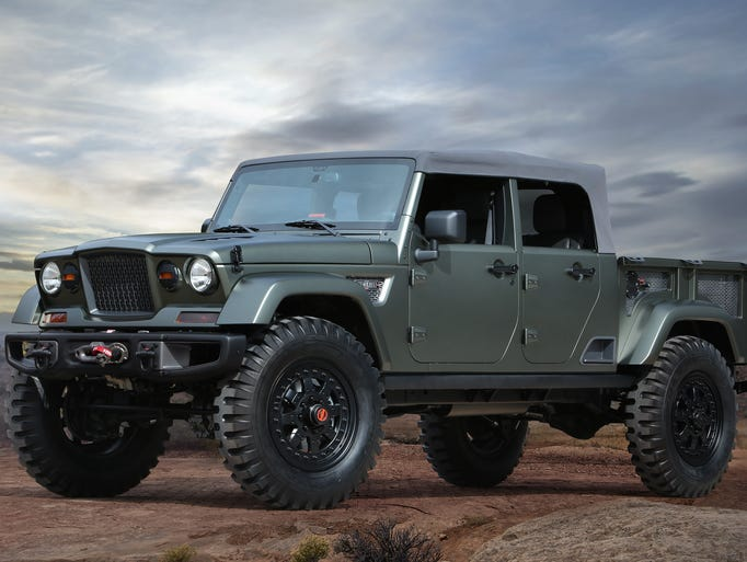 Jeep Crew Chief 715 concept is based on the Wrangler