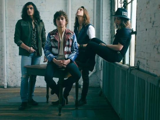 Greta Van Fleet, left to right: Danny Wagner (drums),