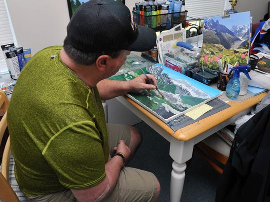 Steve Kordos suffered a stroke several years ago. He now focuses his energy on painting.