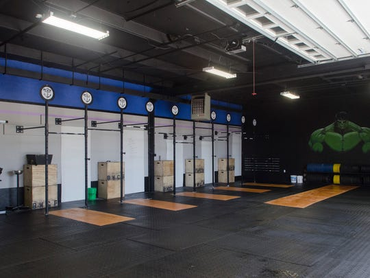 The gym area of the new Blue Water CrossFit.