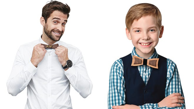 Make a wooden bow tie for yourself or dad at Rockler Woodworking and Hardware