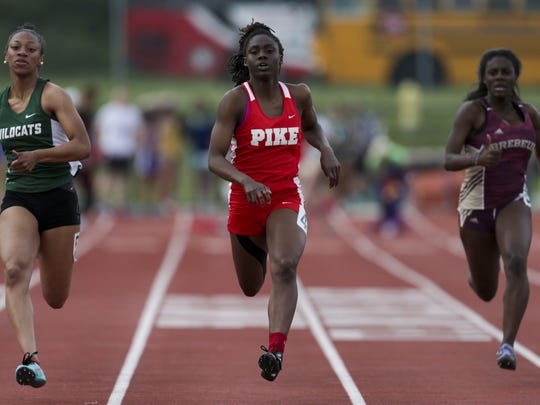 As a freshman, Pike's Lynna Irby won the state title in the 100, 200 and 400 meters. Her time of 11.50 seconds broke the 28-year-old state record for the 100 meters.