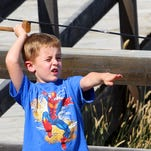 Levi Karren, 5, of Havre aims at a target during a 2011 Atlatl Competition in Havre. The First People's Buffalo Jump State Park holds its annual Atlatl Mammoth Hunt Sept. 5-7.