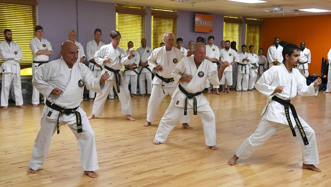 Karate practitioners from all over the US and Canada participate in the 6th annual Soke Nagamine Memorial Weekend at Cocoa Beach Karate. Soke Nagamine was the head of the Matsubayashi-Ryu Karate-Do Association and the son of the founder of the style.