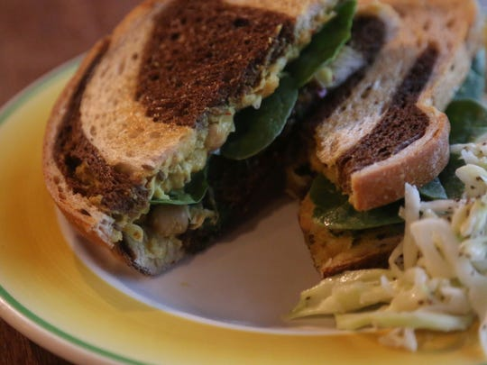 The Sweet and Spicy, a chick pea sandwich with a curry