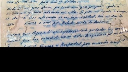 A letter from a woman in Cuba was found inside a bottle that washed up on Melbourne Beach.