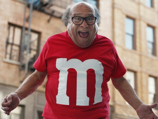 Danny DeVito stars in M&M's first Super Bowl commercial