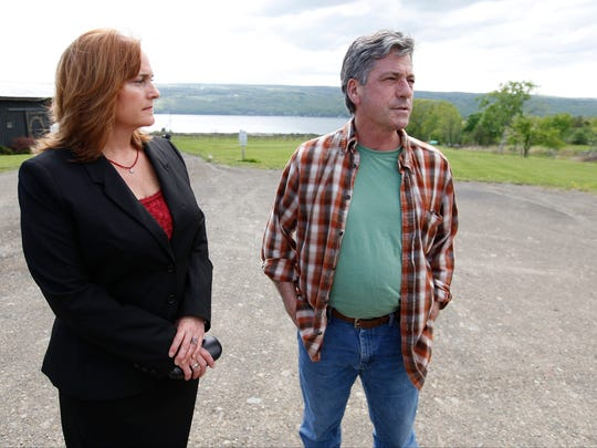 Yvonne Taylor and Joseph Campbell, both who live on the lake, spearhead the Gas Free Seneca initiative. Gas Free Seneca focuses on attending government meetings to discuss harmful effects Crestwood's gas storage plan may have on the area.