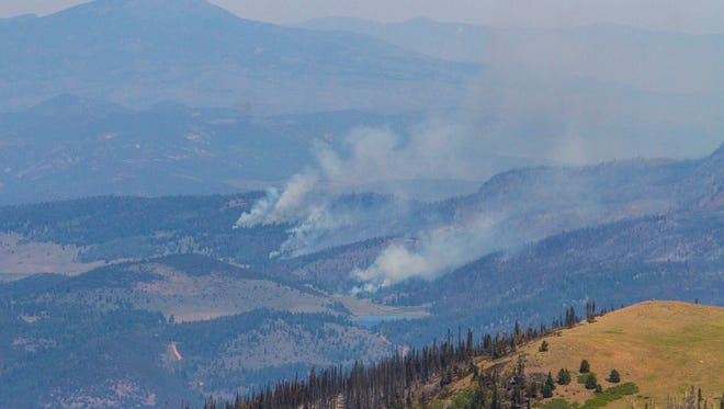 A view of the Brian Head fire as it continues to burn to the northeast of Brian Head, Utah, on Friday, June 30, 2017.